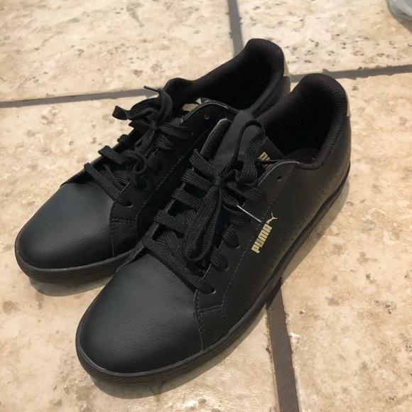 Puma Shoes   Puma Black Gold Sneakers
